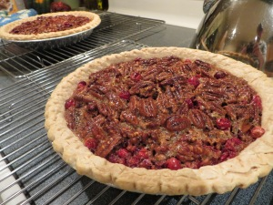 Finished pecan cran pie
